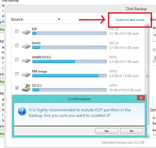 System reserved partition full