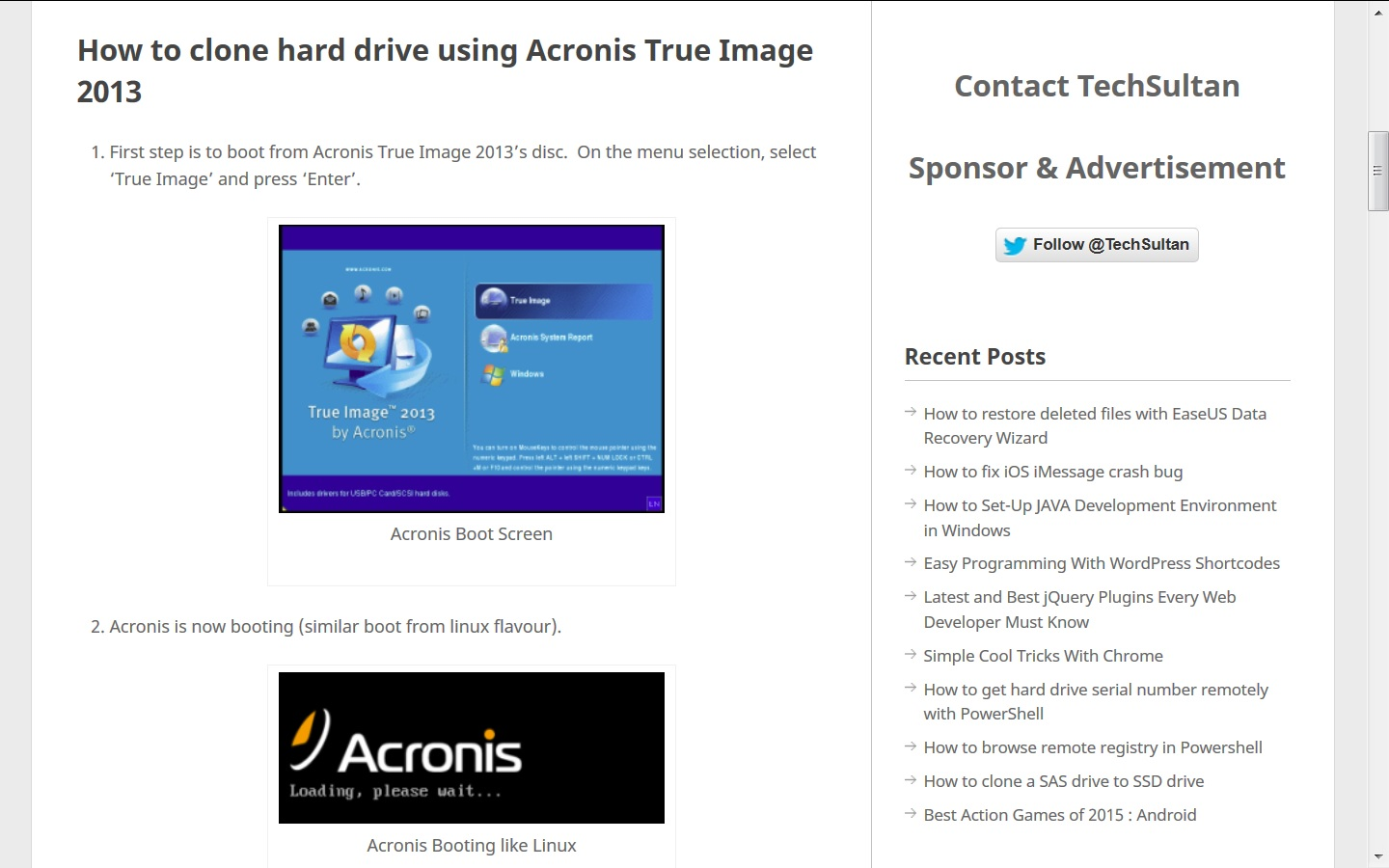 Bootable Media not recognizing internal SSD [SOLVED] | Acronis Forum