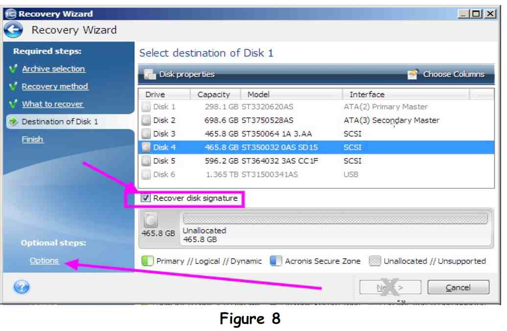 Acronis true image 2013 recovery disk signature