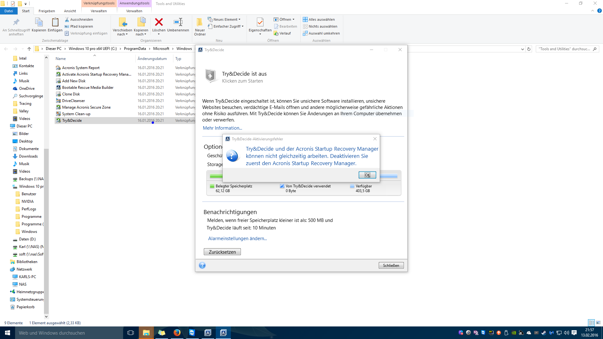 virtual clone drive windows 10 funktioniert nicht