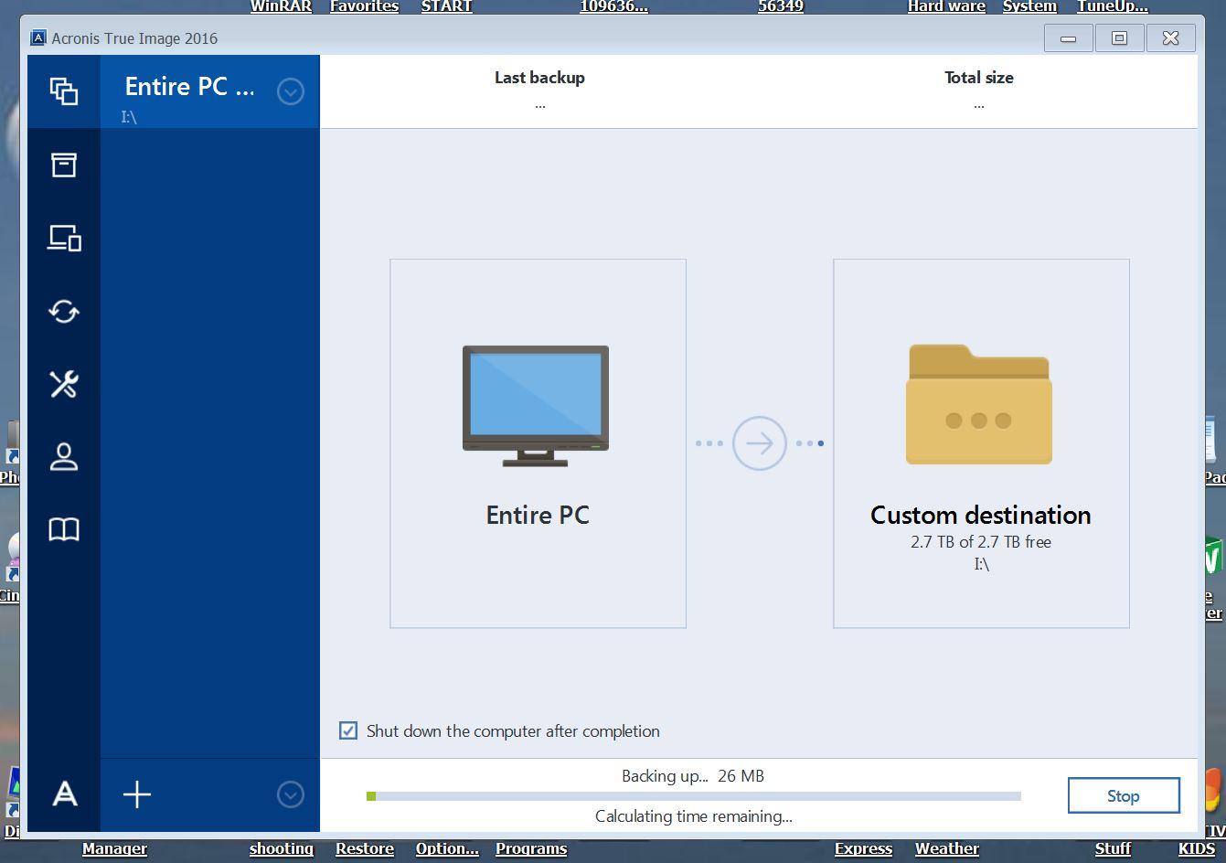 Discrepency in Backup Size | Acronis Forum