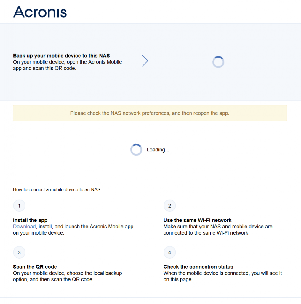 Acronis 3rd Party application on Synology | Acronis Forum