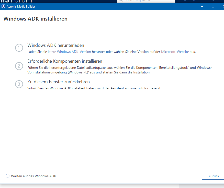 Important change for Advanced Acronis Media Builder starting