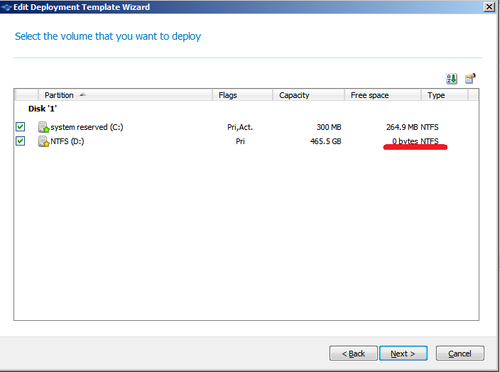 No free space on Volume? Long deployment times   | Acronis Forum