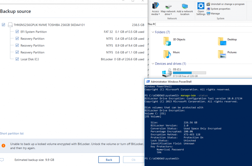 Performing backups in Modern/Connected Standby | Acronis Forum