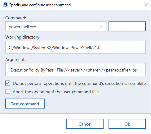 Powershell script Pre/Post commands not working! | Acronis Forum